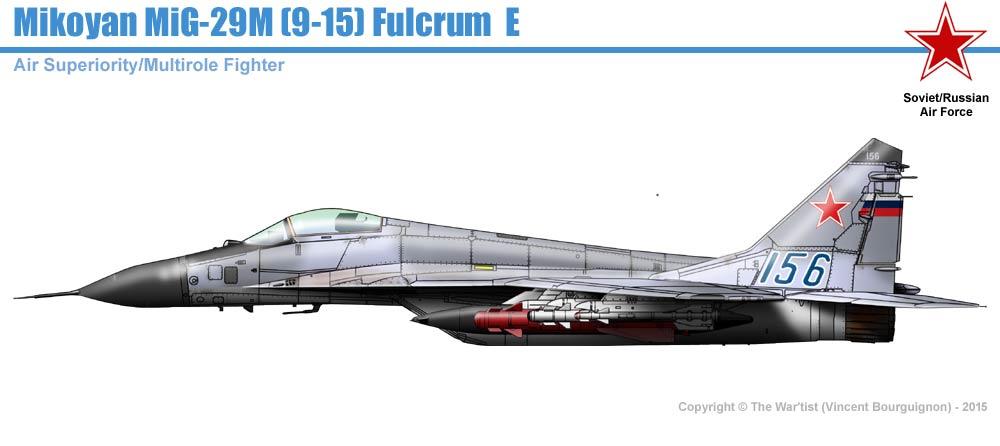 MiG-29M (9-15) Fulcrum E on