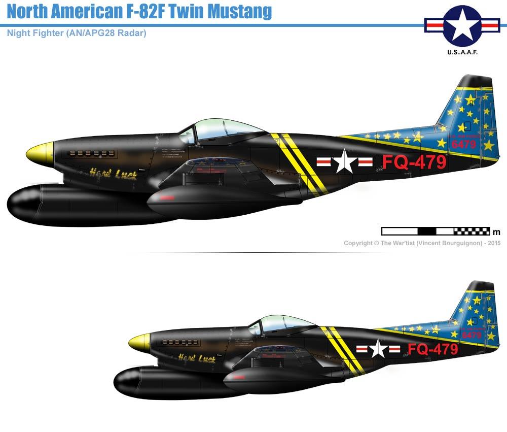 Norh American F 82f Twin Mustang Logo Drawings