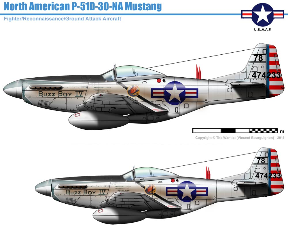 Norh American P 51d 30 Na Mustang