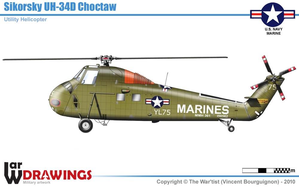 Sikorsky Uh 34d Chocktaw