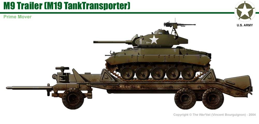M19 Tank Tranporter (M20 Diamond T Prime Mover + M9 Trailer)