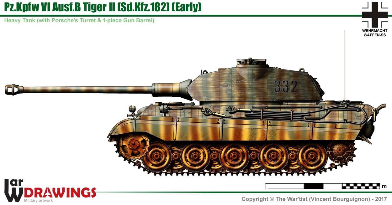 PzKpfw VI AusfB Tiger 2 Porsche Trm