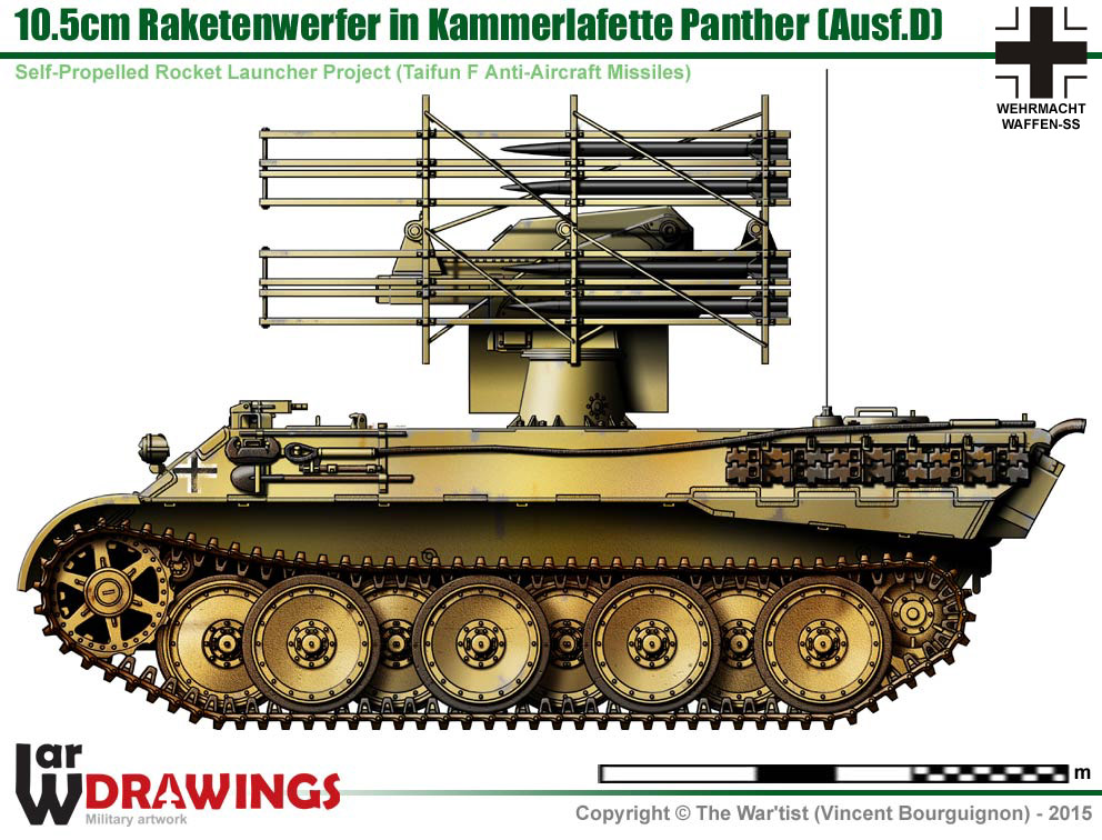 10 5 Cm Raketenwerfer In Kammerlafette Panther