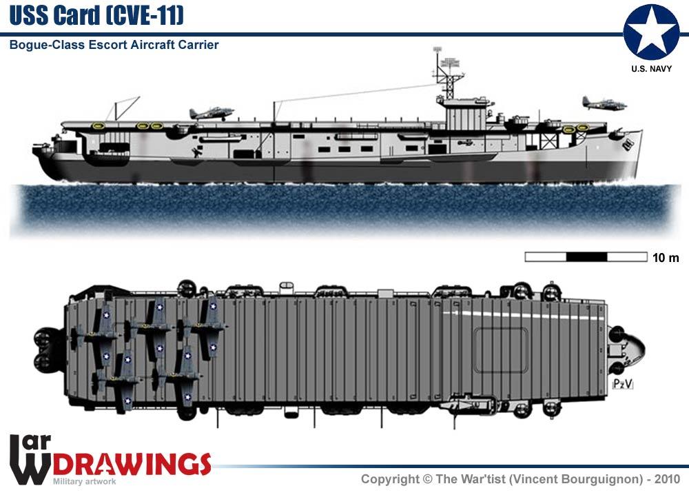Escort Aircraft-Carrier USS Card (CVE-11) on