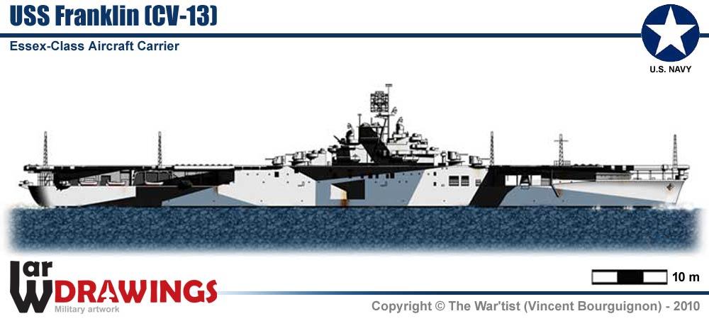 Aircraft-Carrier USS Franklin (CV-13) on