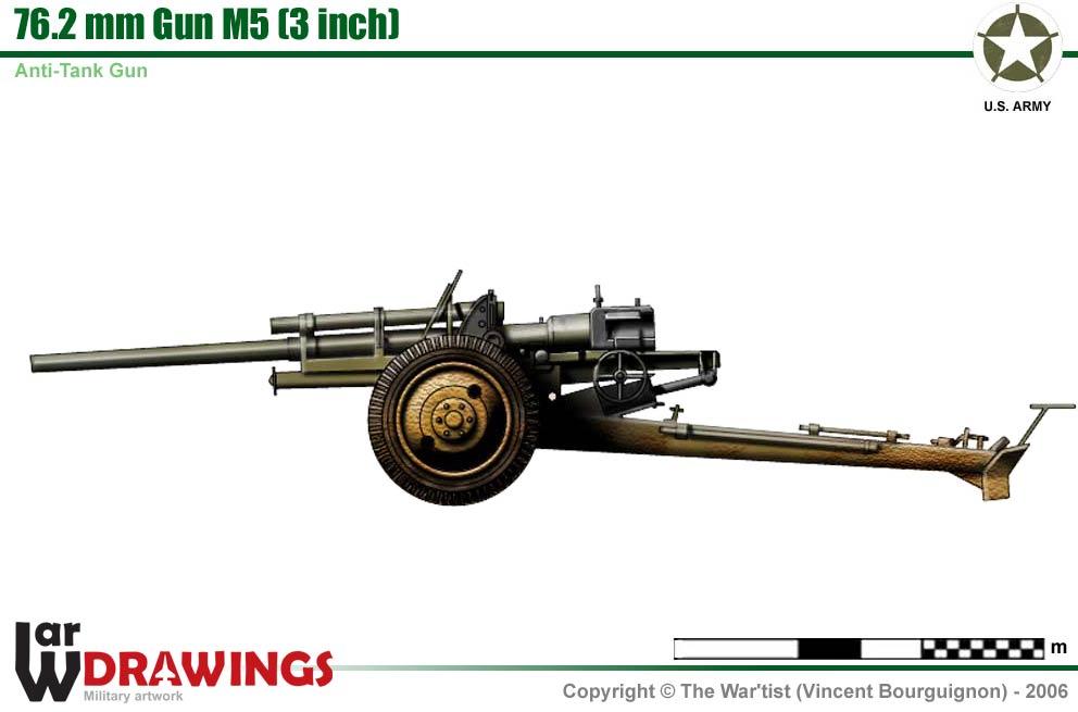 German 50 Mm Anti Tank Gun: 76 Mm M5 Anti-tank Gun