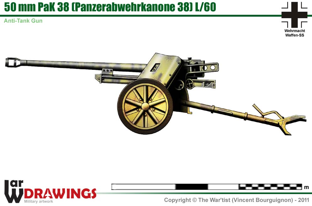 German 50 Mm Anti Tank Gun: 50 Mm PaK 38
